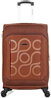 Giordano Softside Spinner Trolley Bag for Unisex, Brown, 28 Inch