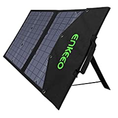 HIGH EFFICIENCY: foldable solar panel charger 50W from ENKEEO with an impressive ≥20% solar energy conversion; reliable & safe charging with built in TIR C and MPPT charge controller 3-TYPE OUTPUT PORTS: extensive compatibility with multiple ports in...