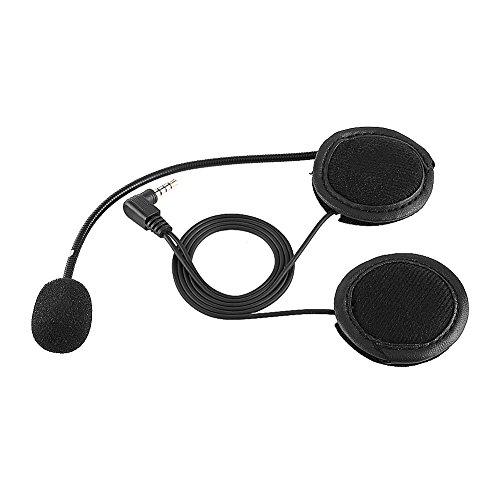 Yctze ABS Accesorios Auriculares Bluetooth Micrófono para Auriculares para V4/V6 Intercomunicador para Casco de Motocicleta Apto para Scooters/Motocicletas (Negro)