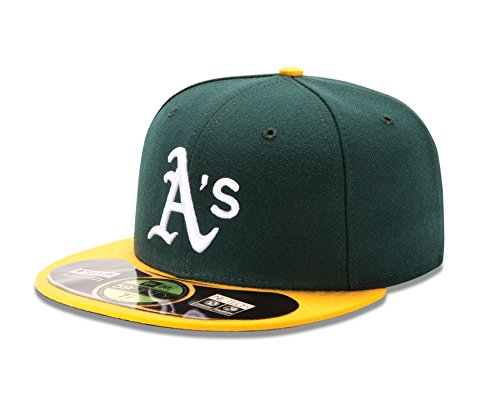 New Era MLB Home Authentic Collection On Field 59FIFTY Fitted Cap, Herren, ACPERF OAKATH HM, Oakland Athletics, 7