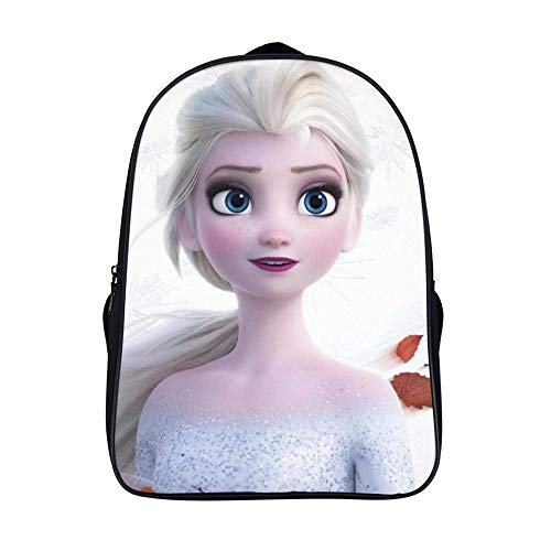 16.5 inches Backpackfor Frozen 2 fans, Elsa (2),Unisex School Bookbags, Cute Laptop Bag,waterproof Casual Travel Hiking Camping daypack for Boys Girls Kids