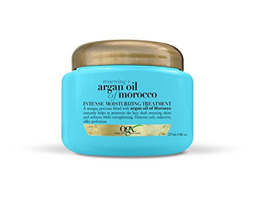 OGX Renewing + Argan Oil of Morocco Intense Hair Moisturizing Treatment, 3-in-1 Conditioner, Deep Conditioning Treatment & Hair Mask for Dry Hair, Paraben-Free, 8 oz