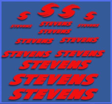 Ecoshirt PP-FHM0-OHNX Sticker Stevens Dr1118 Vinyl Decal Sticker Decal Decal Sticker MTB Bike Red