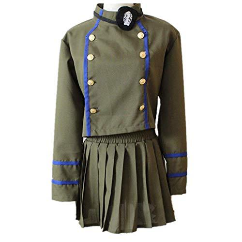 charous Anime Hitman Reborn Cosplay Kostüm Halloween Kostüm Uniform Kleid für Frauen Komplettset Gr. X-Large, grün