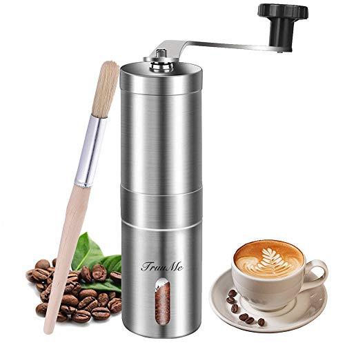 Macinacaffè manuale, macinacaffè in acciaio inox, macina caffè conica regolabile in ceramica, ideale per casa, ufficio e viaggi, spazzola per spezie size1