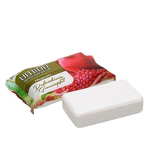 1x UMIDO Seife 80 g Granatapfel | Handseife | Waschstück | Seifenstück für ihre Körperpflege | Festseife (4-KPF)