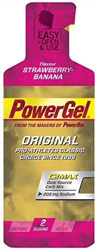 Gel Energético Power Gel PowerBar 24 Geles x 41g Fresa y Plátano
