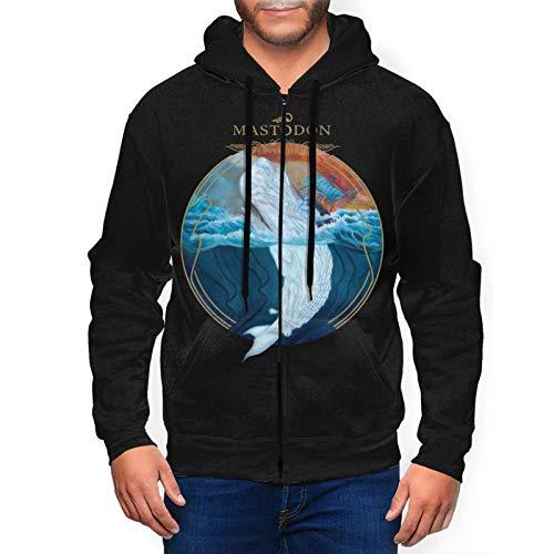 Dana J Lessard Mastodon Leviathan Hoodie Mens Cool Sweatshirt Full Zip Long Sleeve Pullover Jacket Black