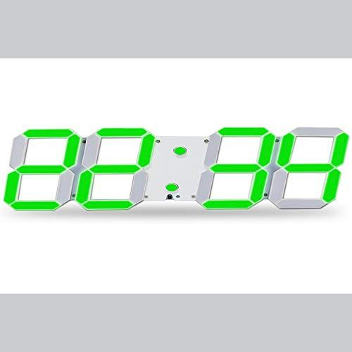 Bubbry spiegel LED wekker digitale afstandsbediening wekker licht design hol 3D