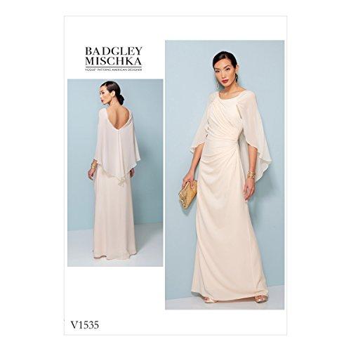 VOGUE PATTERNS Robes pour Femme, Multicolore, Tailles 14–22