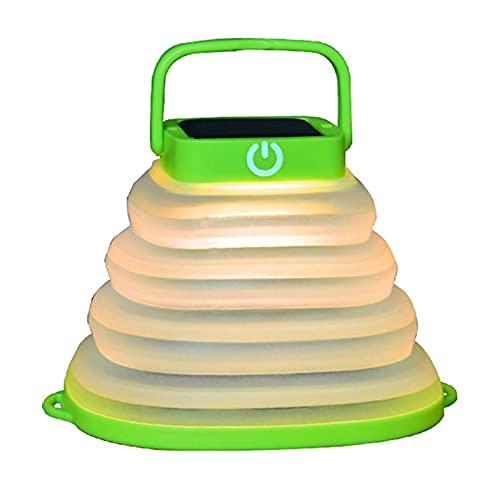 Camping Lantern Solar Powered Camping Linterna portátil CARGABLE COLLABLE DIRIGIÓ Linterna para la Noche al Aire Libre Senderismo Camping Tienda de Caza (Wattage : Green Warm White)