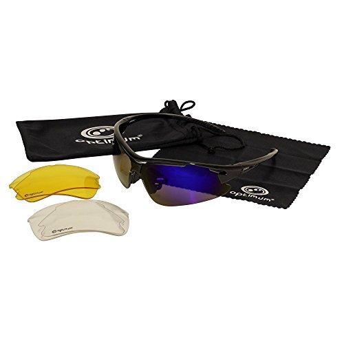 OPTIMUM - Gafas de Sol de Ciclismo para Hombre con Cristales Intercambiables...