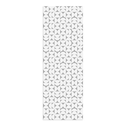 Alfombra Vinílica, Geometría, Gris, 200 x 70 cm, Varios Tamaños y Colores, PVC Estampado, ALV-080-GR