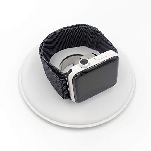 Crown dot Sticker Vinyl Cover, Set of 8 dots for All Apple Watch Plus x2 Matching Side Buttons (Series3 Space Gray)
