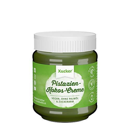 Xucker Pistazien-Kokos-Creme, vegan, zuckerarm mit Xylit, Brotaufstrich ohne Palmöl, 1 x 200 g Glas