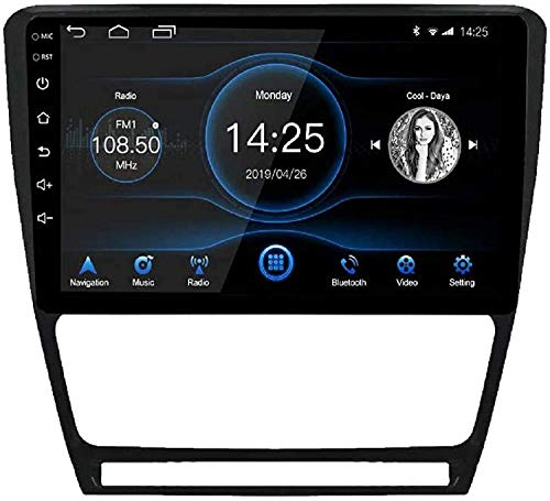 GPS Navigation Head Unit Sat Nav AUD Audio Player DE MP5 FM Radio Receptor Coche Stereo DE 10 INCULRIDAS Android 10.1 Compatible para Skoda Octavia 2009-2013,4 Core 4G+WiFi 1+16GB