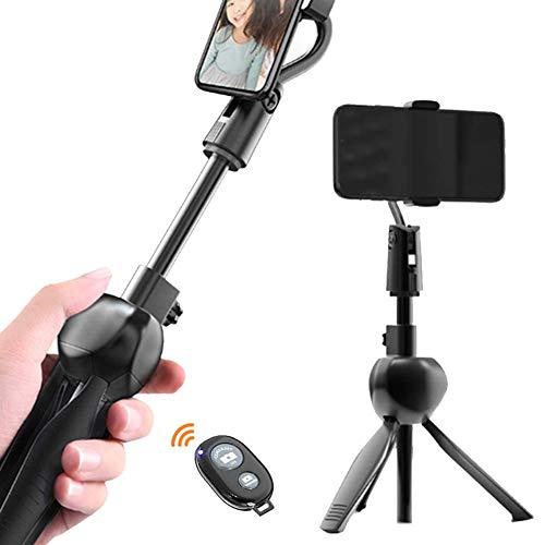 Oyria - Trípode para selfie, extensible con mando a distancia inalámbrico desmontable y trípode para selfie para iPhone 11/11 Pro, X/8/8P/7/7P/6S/6, Samsung Galaxy S9/S8/S7/Note 9/8, Huawei y más