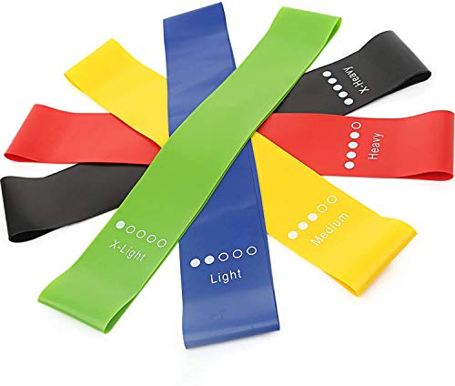 GAKOV Resistance Bands Set, Exercise Elastic Bands with Different Resistance for Home, Gym, Yoga, Strength Training, Physical Therapy, Fitness & Work-
