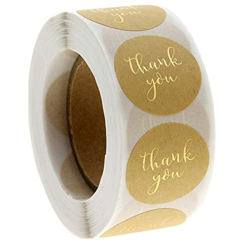 100-500pcs Golden Font Thank You Stickers Kraft Festival Decorative Stickers Tags Envelope Christmas Stickers Scrapbooking