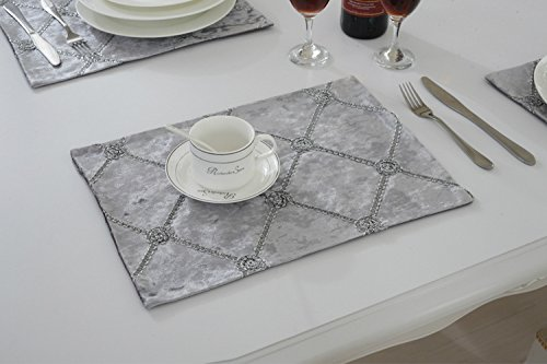 SAEJJ-Table Runners Plaid placemats, placemats tafelkleed westerse voeding, massief mat kommen schotels moeten pad 30 * 40cm Tafelkleed