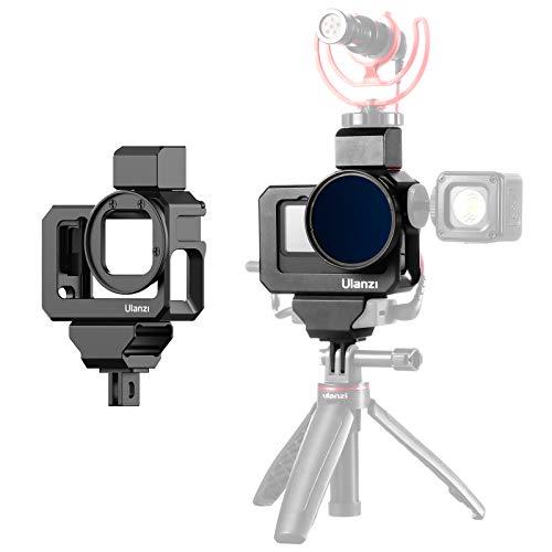 ULANZI G9-5 Custodia Protettiva per Gopro Hero 9 Action Camera, Gabbia video con 2 Freddo Shoe Mount per Microfono e Luce Led, Guscio Protettivo Telaio con Filtro Adattatore 52mm per GoPro Hero 9