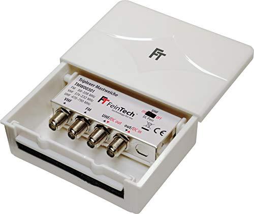 FeinTech TMW00301 Triplexer 3-fach Mastweiche 3 Eingänge UKW VHF UHF Combiner