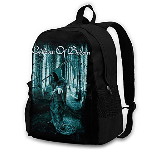 Children of Bodom Large Capacity 3D Printed School Backpack Comfortable Book Bag, Unisex Fashion Backpack Black