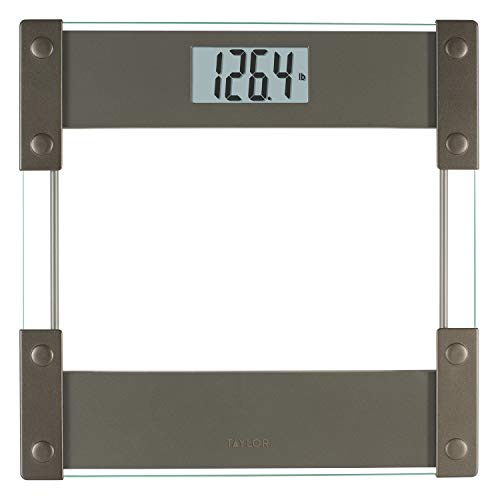 Taylor Precision Products Hinge Design/Clear Glass Digital 400lb Bathroom Scale