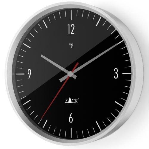 ZACK Funk-Wanduhr VIDA 60076, schwarz, rund D. 30 cm