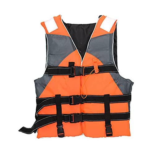Q-YR Chaleco Salvavidas para Adultos, Chaleco De Seguridad De Agua Al Aire Libre, Alta Flotabilidad, Liviano Y Duradero para Nadar, Bote Motera, Pesca,Naranja,One Size