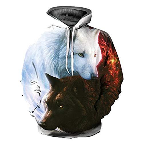 DREAMING-Sudadera con capucha con estampado 3D, camiseta informal suelta, suéter, traje de pareja, cuello alto de manga larga de primavera y otoño + pantalones, traje deportivo 5XL