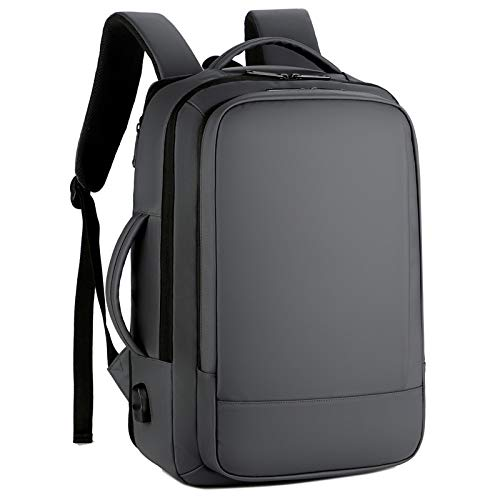 Large Capacity Expandable Unisex Backpack Multifunctional Waterproof and Breathable Business Men's Computer Backpack-Gray