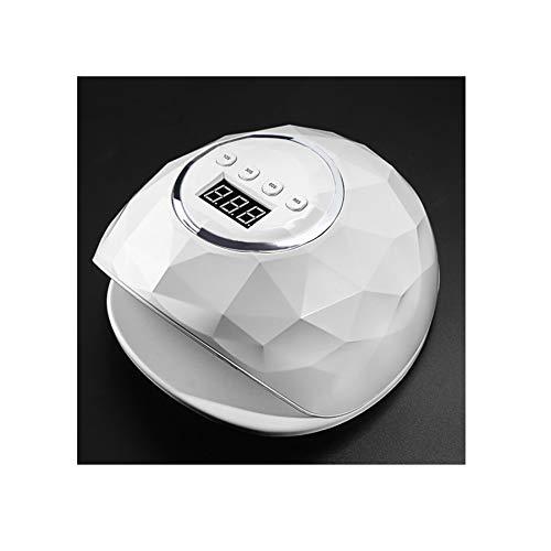 MODRYER Secador De Esmalte De Uñas, Lámpara De Curado De Esmalte De Uñas De 72 W, con LED UV para Esmalte De Uñas Normal Y Función De Detección Automática De 4 Temporizadores,White