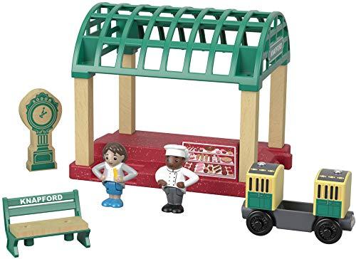 きかんしゃトーマス 木製レールシリーズ ナップフォードステーション 2才~【SFC認証取得】木のおもちゃ 車両 レール GGG71