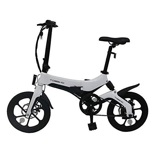 Coolautoparts Bicicleta Eléctrica Plegable 250W 16 Pulgadas para Hombres Mujeres/Bicicleta de Montaña/e-Bike 36V Batería...
