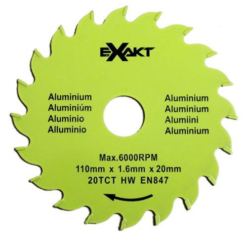 Sägeblatt 20TCTA für Aluminium   Präzisions-Kreissägeblatt z. B. für Handkreissäge Exakt DC-270   110 mm Durchmesser, 10 Stück