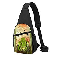 Froggy Heaven Sling Bag Fade Resistant Chest Shoulder Backpack Waterproof Fanny Pack Wrinkle Resistant Chest Bag Outdoor Crossbody Bags for Men Women Teens