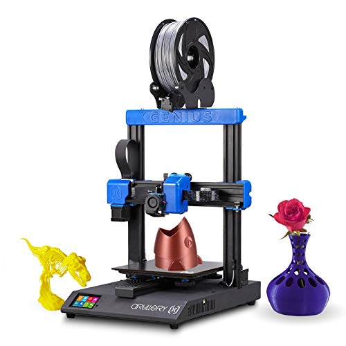 Fesjoy Genius High Precision 3D Printer DIY Kit Printing Size 220*220*250mm Ultra Quiet Operation Support Fialment Run-out Detection Power-off Resume Print with 2.8 Inch Color Touchscreen for Home