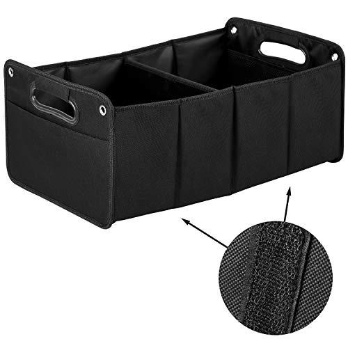 Upgrade4cars Organizador Maletero Coche Pequeño y Útil | Bolsa para Maletero del Coche Rigido | Caja Plegable | Accesorios Coches Interior