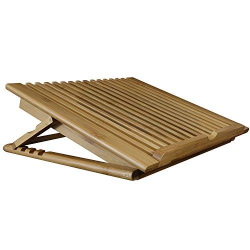 Macally ECOFANPRO2 - Soporte de bambú con refrigeración y con Altura Regulable para Ordenador portátil