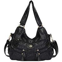 Angel kiss Ultra Soft Washed Vegan Leather Satchel Handbag for Women