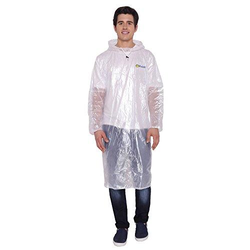 ZEEL Men's Poncho (RTM13WHT_White_Free Size)