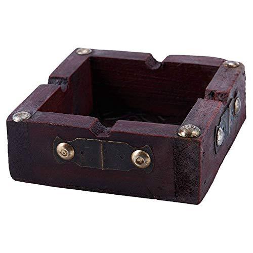 dfsa Aschenbecher New-Vintage Holz Aschenbecher Zigarette Zigarre handgemachte Tabak Holzkiste Zigarettenetui für das Rauchen bequem