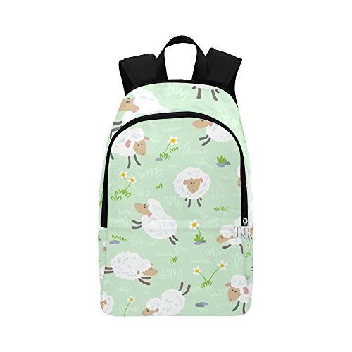 DKGFNK Bag Girl School Shy Sheep Warm Lovely Durable Water Resistant Classic Bookbags Boys College Golf Bags for Men Best School Bags Sports Travel Bag