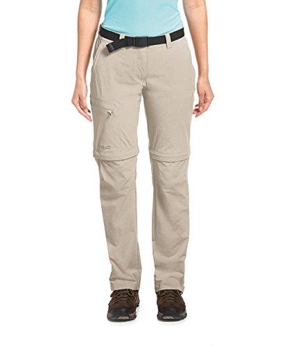 Maier Sports Damen Hose T-Zipp-Off, Beige (Feather Gray-743), 38