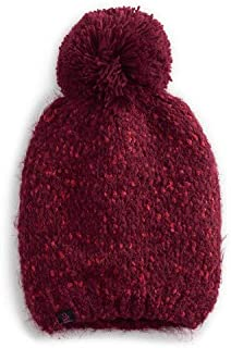 Cuddl Duds Sangria Plush Knit Hat with Pom