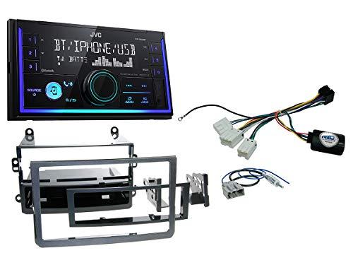 Autoradio Einbauset geeignet für Nissan 350Z inkl. JVC KW-X830BT & Lenkrad Fernbedienung Adapter in Schwarz