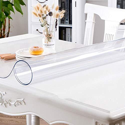 Mantel rectangular de silicona PVC suave impermeable transparente para el hogar, la cocina, el comedor