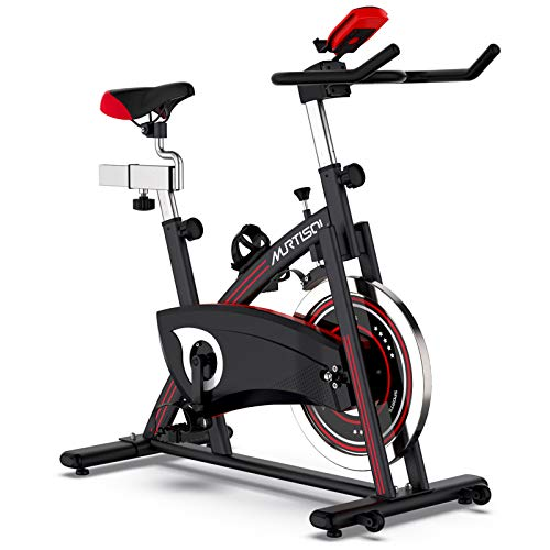 Murtisol Folding Exercise Bike Compact Foldable Stationary Bike Magnetic Resistance Control W/...