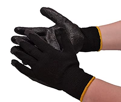 Deluxe Cotton String Knit Palm Dipped Pvc Work Gloves